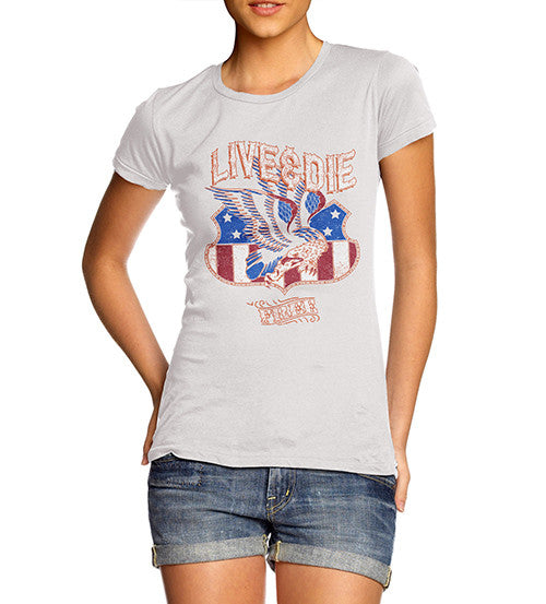 Womens American Eagle Live And Die Free T-Shirt
