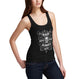 Womens Biker Bad Bones Crew Always Win Tank Top