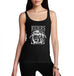 Womens Biker Print Riders on the Storm Tank Top