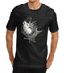 Mens Distress Print Wolf Call of the Hunter T-Shirt