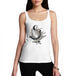 Womens Distress Print Wolf Call of the Hunter Tank Top