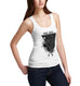Womens Gothic Skull Graphic Among Angels Tank Top