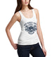 Womens Bad Bones Crewe Never Fade Away Skull Tank Top