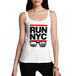 Womens Run NYC Glasses Hip Hop Tank Top