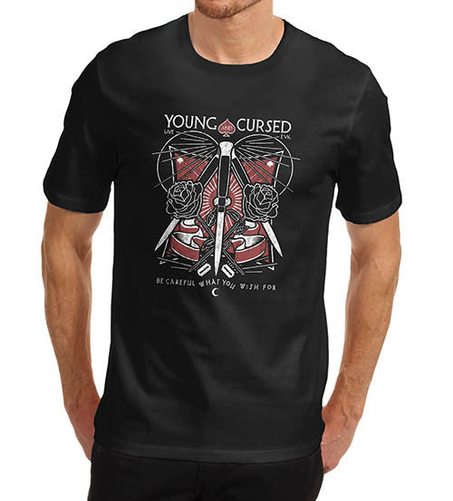 Mens Gothic Young and Cursed T-Shirt
