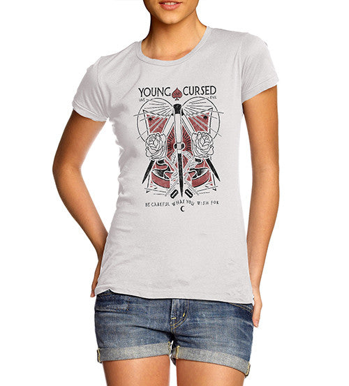 Womens Gothic Young and Cursed T-Shirt