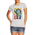 Womens Psychedelic Print Super Power Tiger T-Shirt