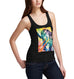 Womens Psychedelic Print Super Power Tiger Tank Top