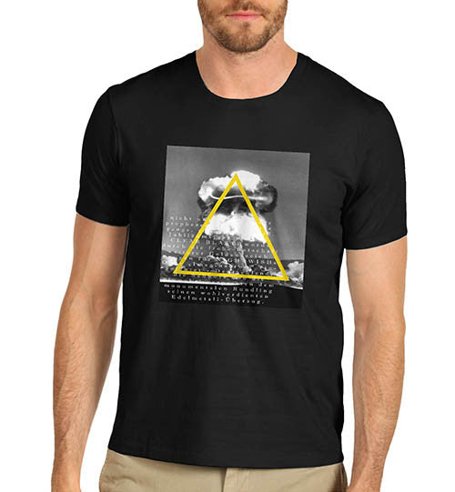 Mens Atom Bomb Nuclear Explosion Graphic T-Shirt