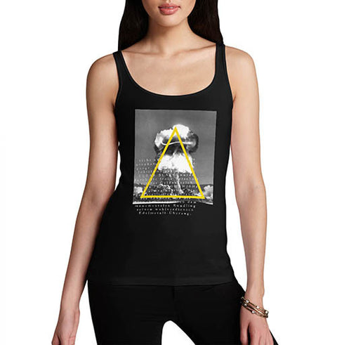 Womens Atom Bomb Nuclear Explosion Graphic Tank Top