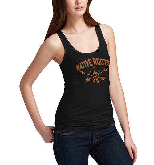 Womens Native Roots Distress Print Graphic Tank Top
