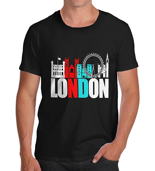 Mens London Famous Land Marks Printed T-Shirt