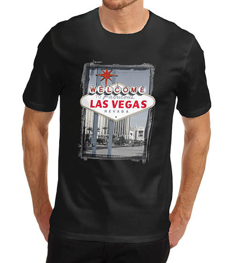 Mens Welcome to Las Vegas Iconic Sign T-Shirt