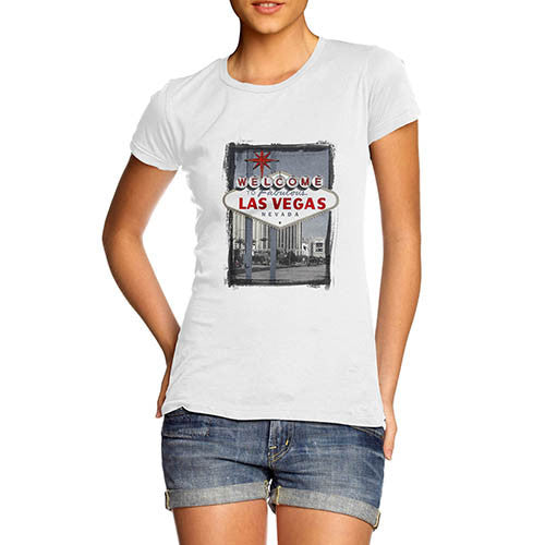 Womens Welcome to Las Vegas Iconic Sign T-Shirt