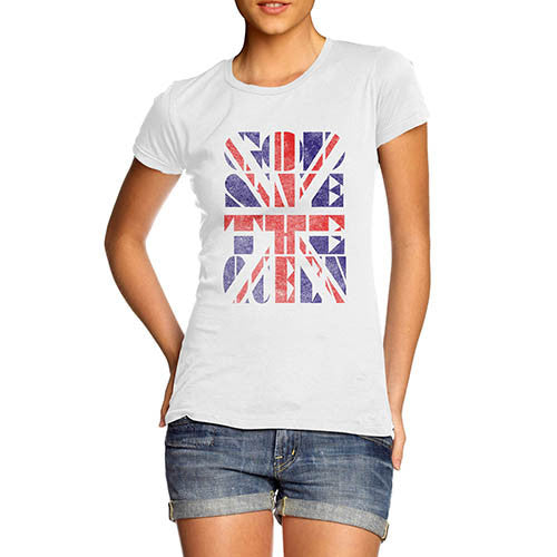 Womens Union Jack God Save the Queen T-Shirt
