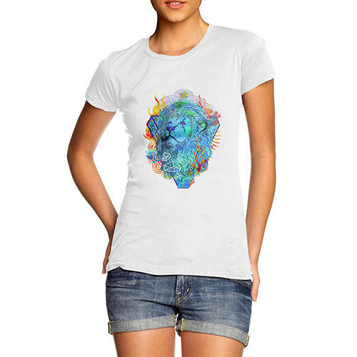Womens Classic Lions Head Graphic T-Shirt