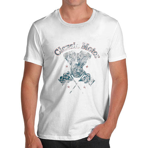 Mens Classic Motor Distress Print T-Shirt