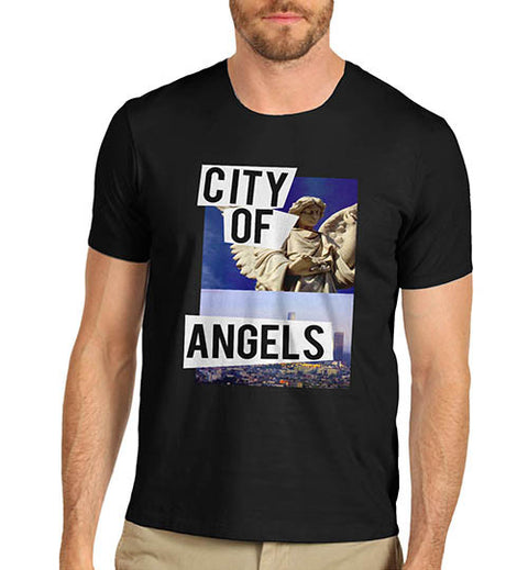 Mens City Of Angels Graphic Print T-Shirt