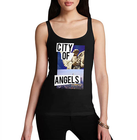 Womens City Of Angels Graphic Tank Top