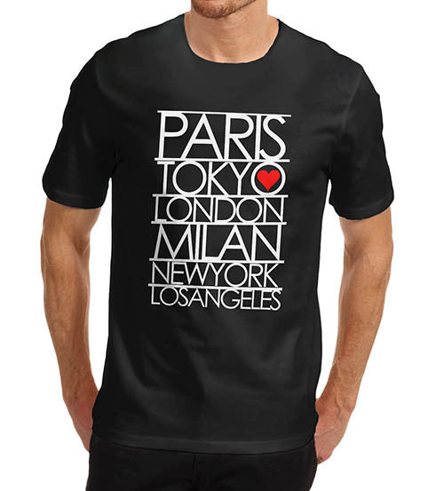 Mens Paris Tokyo London Fashion Capitals T-Shirt