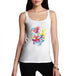 Womens Splash Of Colour Butterfly Graphic Tank Top