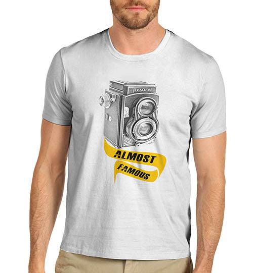 Mens Classic Camera Almost Famous Funny T-Shirt