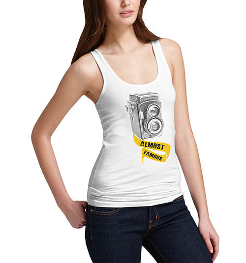 Womens Classic Camera Almost Famous Funny Tank Top