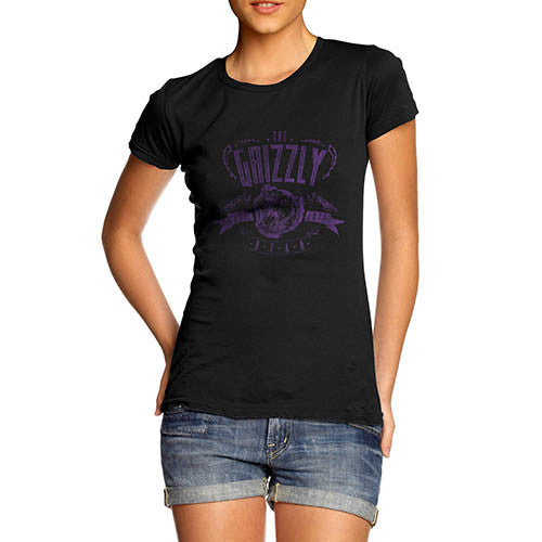 Womens The Grizzly Bear Funny T-Shirt