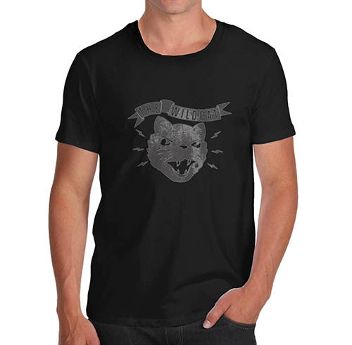 Mens The Wild Cat Funny T-Shirt