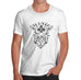 Mens Gothic Skull Cross Lust Print T-Shirt