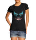 Womens Smeared Make Up Joker Face Print T-Shirt