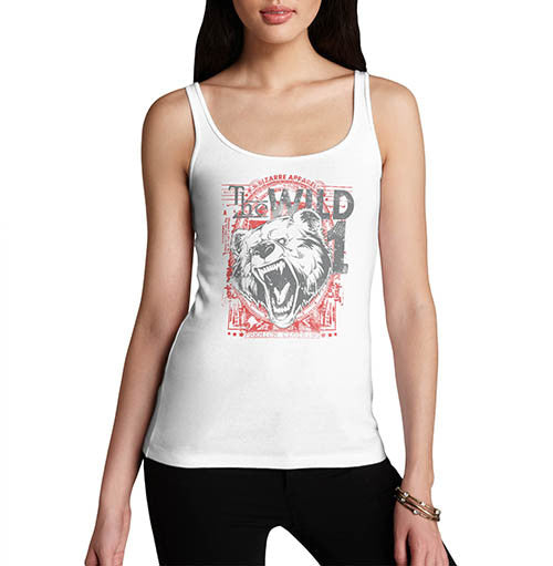 Womens The Wild Bear Graphic Tank Top