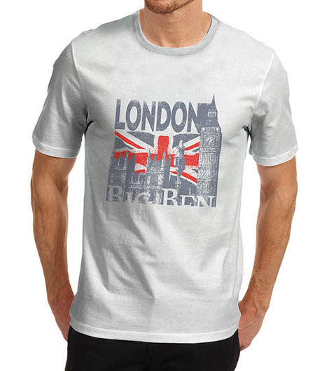 Mens London Big Ben Union Jack T-Shirt