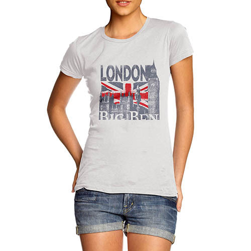 Womens London Big Ben Union Jack T-Shirt