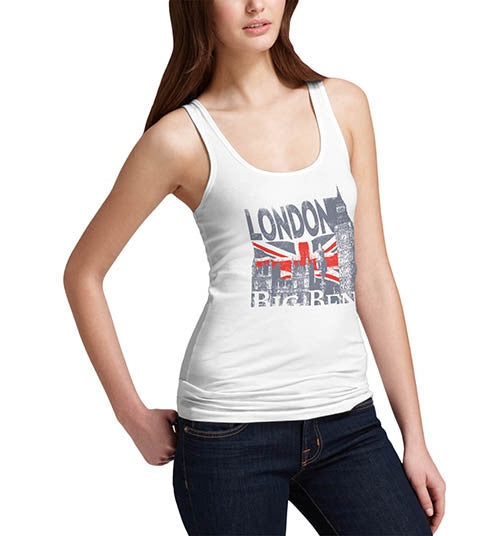 Womens London Big Ben Union Jack Tank Top