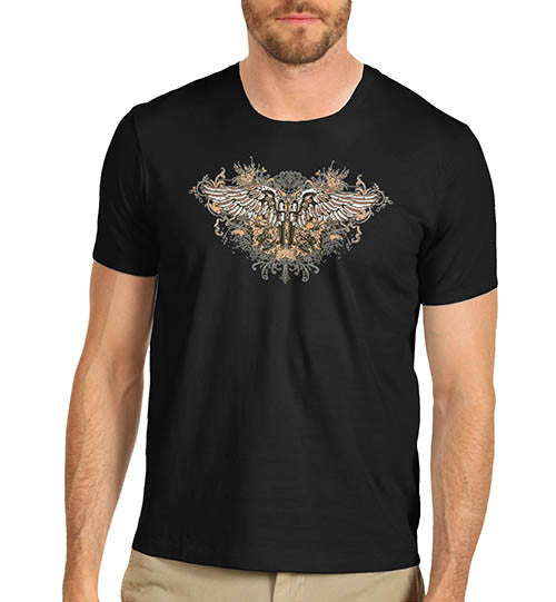 Mens Gothic Twin Gun Wings T-Shirt