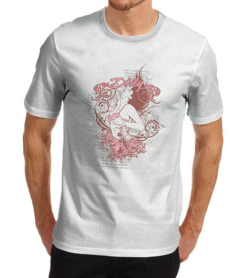 Mens Dirty Dancing Distress Print T-Shirt