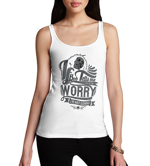 Womens Bob Marley Dont Worrie Printed Tank Top