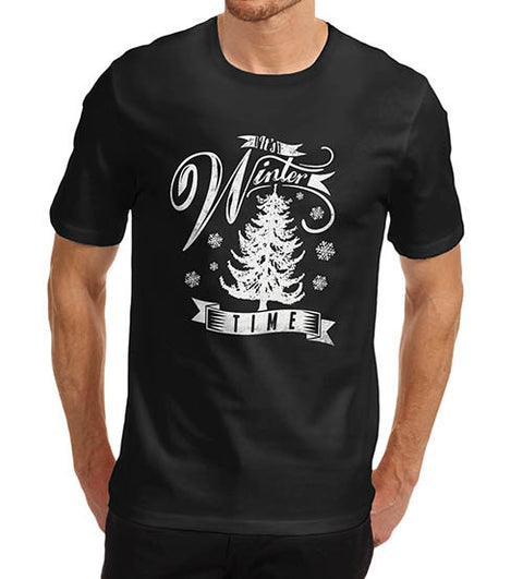 Mens It's Winter Time Festive T Shirt T-Shirt