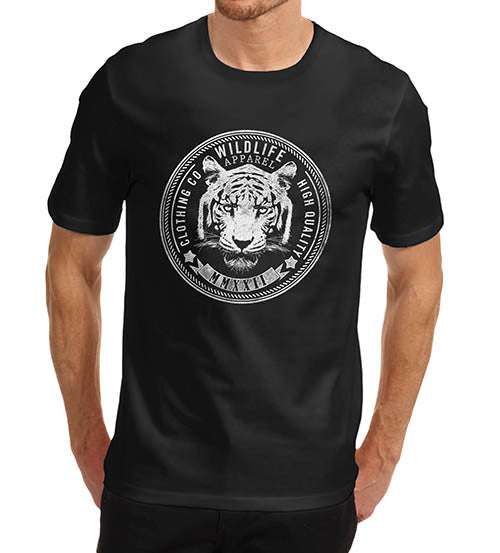 Mens Tiger Face Wildlife Clothing Co T-Shirt