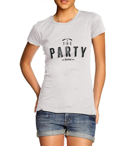 Womens Keep The Party Going Printed T-Shirt