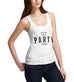 Womens Keep The Party Going Printed Tank Top