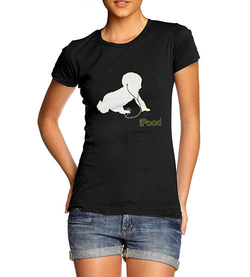 Women's Ipood Baby Funny T-Shirt