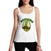 Women's Mustachio Funny Graphic Tank Top