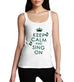 Women's Keep Calm And Sing On Graphic Tank Top