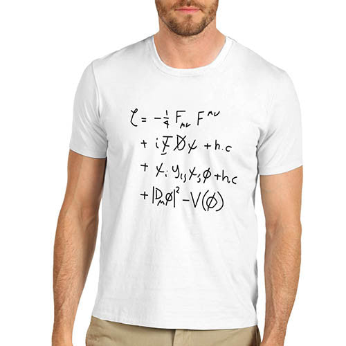 Men's Standard Model Math Equation T-Shirt