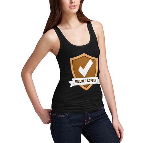 Womens Secured Coffee Tank Top