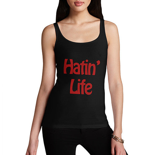 Women's Hating Life Graphic Tank Top