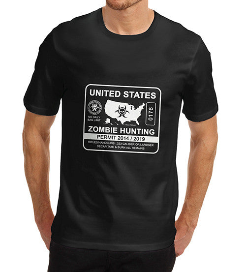 Men's Zombie Hunting Permit T-Shirt