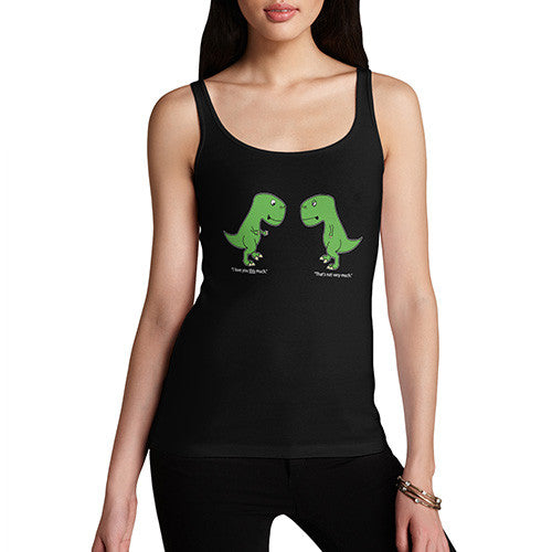 Women T-Rex I Love You This Much Tank Top